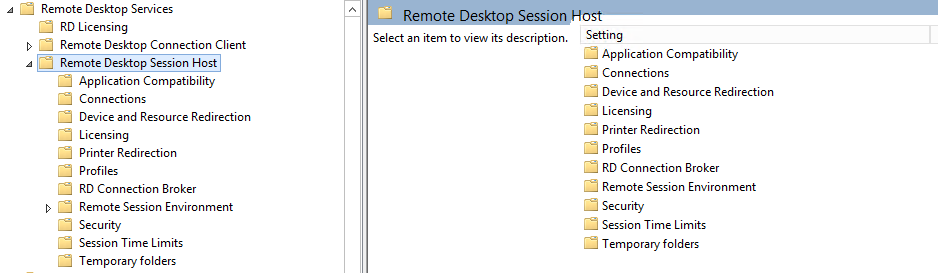Remote Desktop 2012 services without the whole